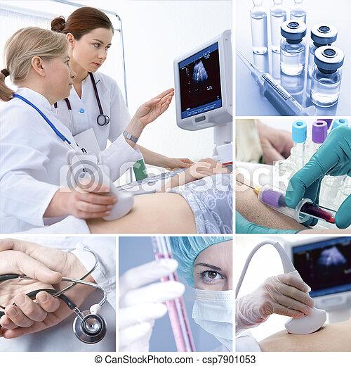 colagem, médico - csp7901053