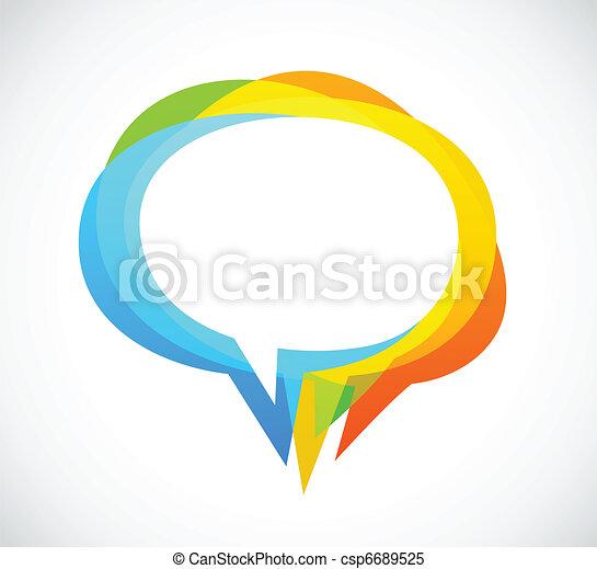 coloridos, abstratos, -, fala, fundo, bolha - csp6689525