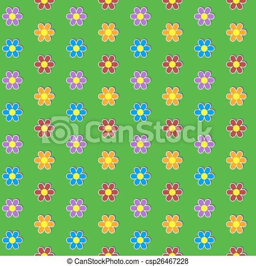 coloridos, seamless, flor, experiência., pattern. - csp26467228