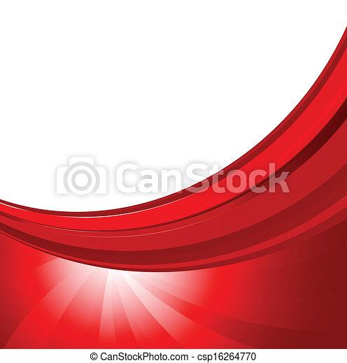 cor, abstratos, fundo, vermelho - csp16264770