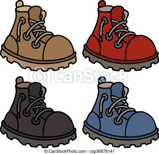 cor, engraçado, botas - csp36876141