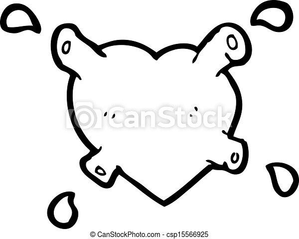 coração, pretas, caricatura - csp15566925