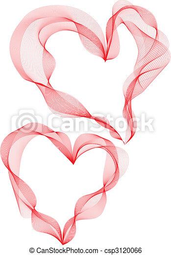corações, fita - csp3120066