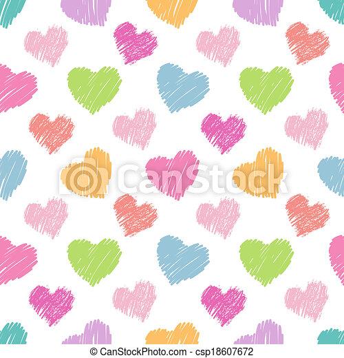 corações, seamless, padrão - csp18607672