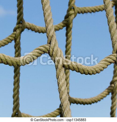 corda, escalando, rede, usado, crianças - csp11345883