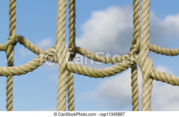 corda, escalando, rede, usado, crianças - csp11345887