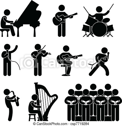 coro, músico, pianista, concerto - csp7719284