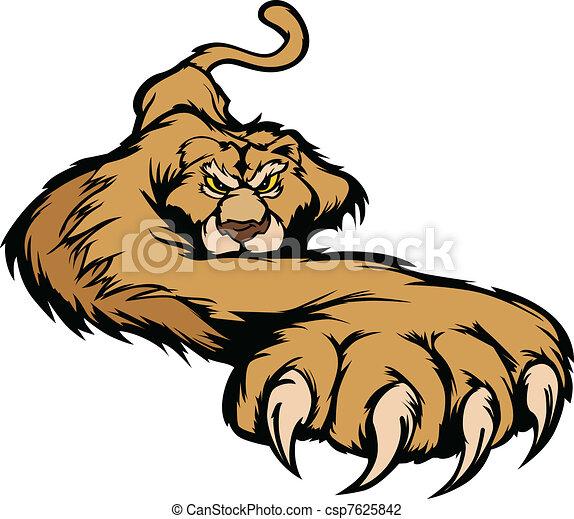 corporal, prowling, vetorial, mascote, puma - csp7625842