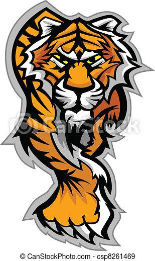 corporal, tiger, vetorial, mascote, gráfico - csp8261469