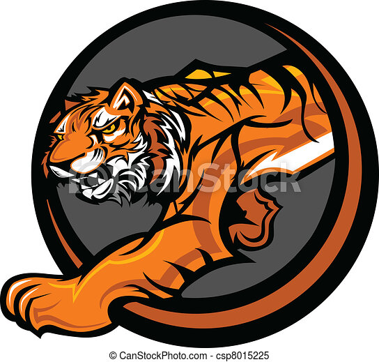 corporal, tiger, vetorial, mascote, gráfico - csp8015225