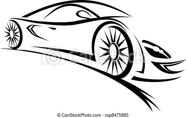 corrida carro - csp8475883