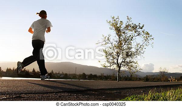 corrida, manhã - csp0040325
