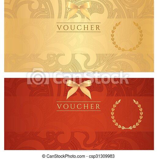 coucher, cupão, certificado presente - csp31309983