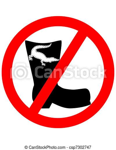 couro, crocodilo, proibido, botas - csp7302747