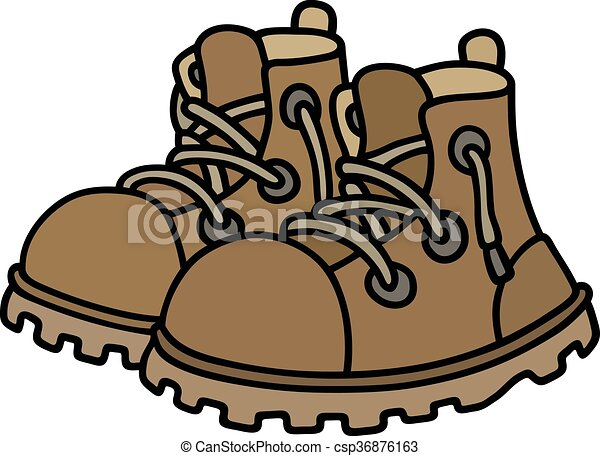 couro, engraçado, botas - csp36876163