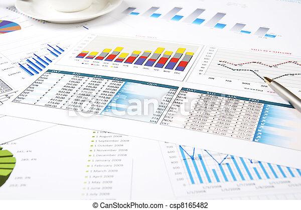 crescimento, gráficos, paperworks - csp8165482