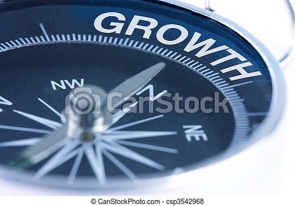 crescimento, palavra, compasso - csp3542968