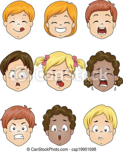 crianças, expressão, facial - csp19901698