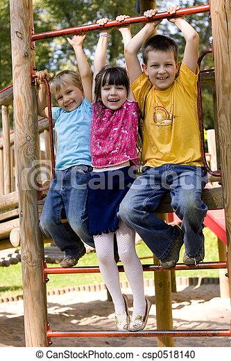 crianças, feliz - csp0518140