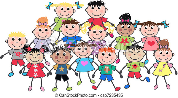 crianças, feliz - csp7235435