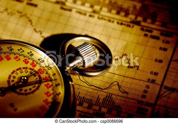 cronometrando, mercado - csp0086696
