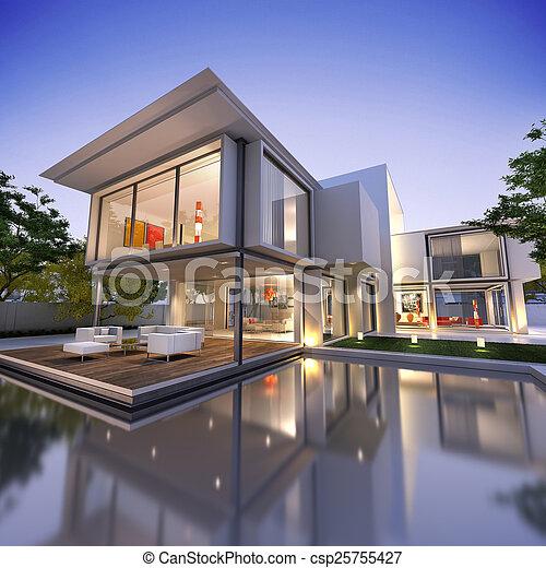 cubo, nid1, casa - csp25755427