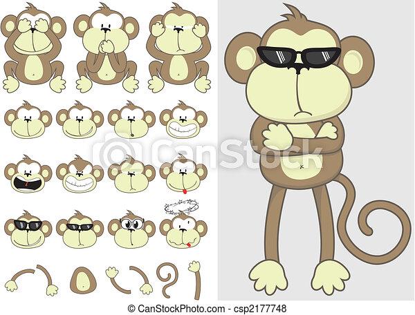 cute, jogo, macaco - csp2177748