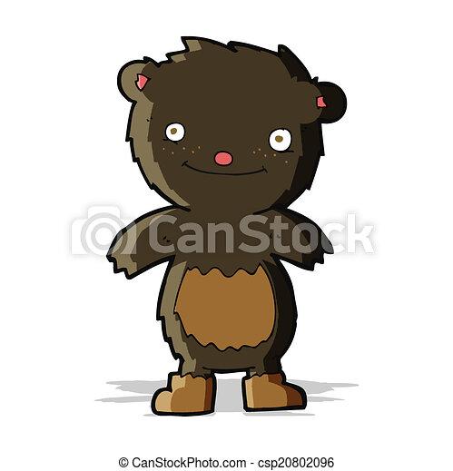 desgastar, urso teddy, pretas, botas, caricatura - csp20802096
