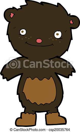 desgastar, urso teddy, pretas, botas, caricatura - csp20035764