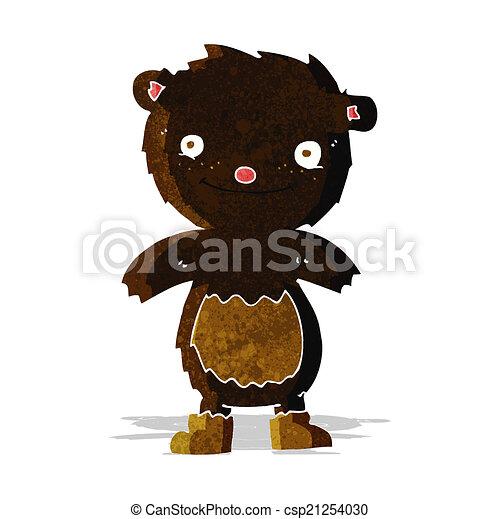 desgastar, urso teddy, pretas, botas, caricatura - csp21254030