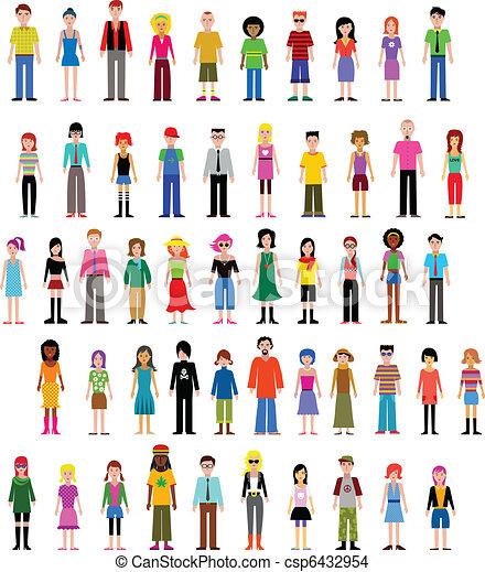 diferente, vetorial, cobrança, pessoas - csp6432954