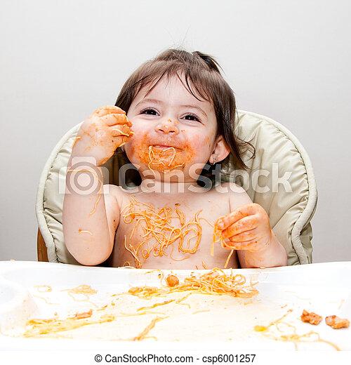 divertimento, sujo, comedor, feliz - csp6001257