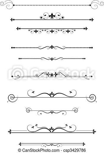 divisores, decorativo - csp3429786