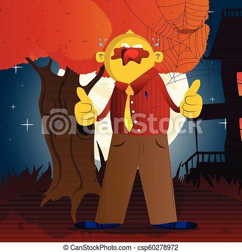 dois, cima, polegares, fazer, sinal, hands., homem - csp60278972