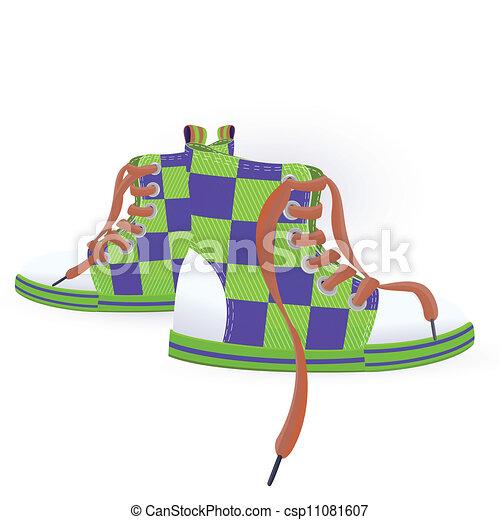 dois, sneakers, verde - csp11081607