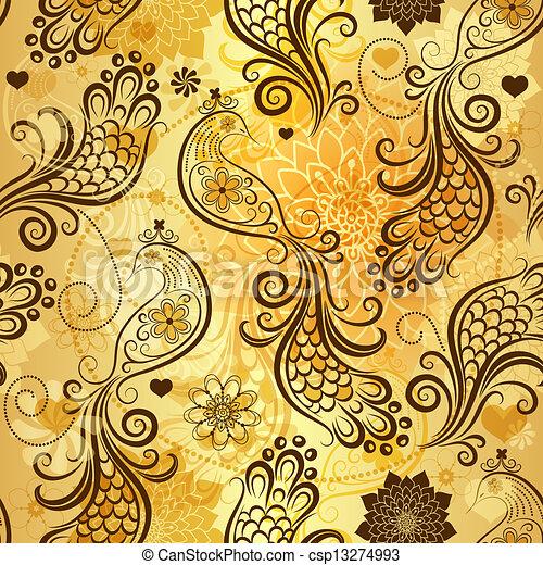 dourado, repetindo, padrão - csp13274993