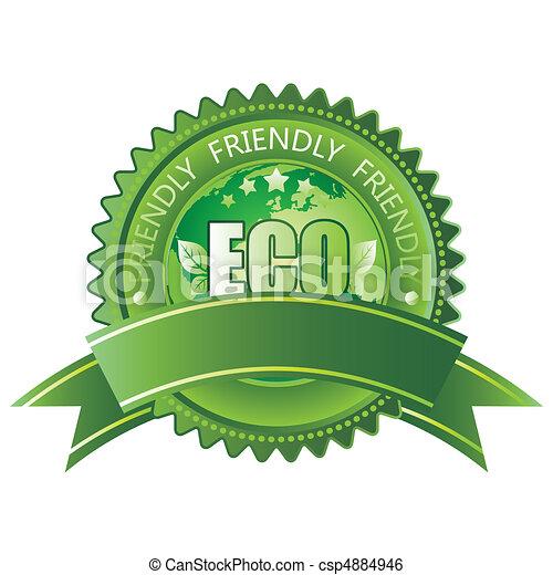 eco-amigável, ícone - csp4884946