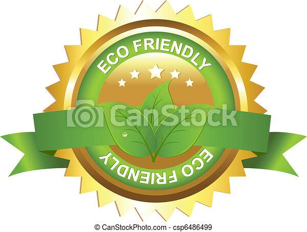 eco, amigável, sinal - csp6486499