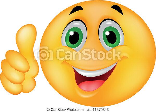 emoticon, feliz, smiley enfrentam - csp11570343