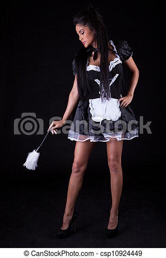 empregadas, mulher, sedutor, equipamento - csp10924449