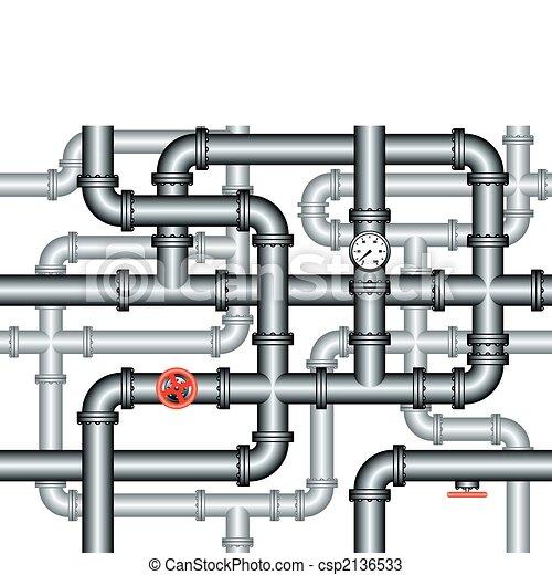 encanamento, labirinto, canos, seamless - csp2136533