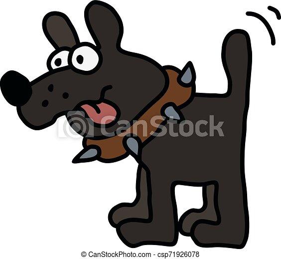 engraçado, cachorro preto - csp71926078