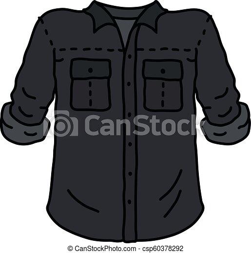 engraçado, camisa preta - csp60378292