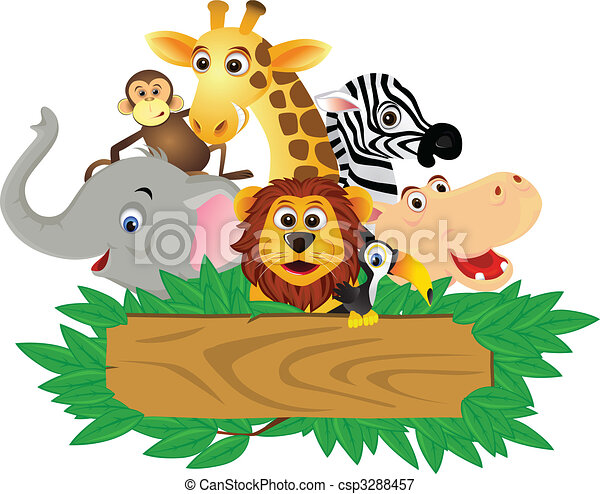 engraçado, caricatura, animal - csp3288457