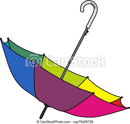engraçado, cor guarda-chuva - csp75436726