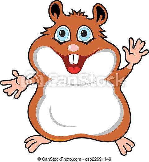 engraçado, hamster - csp22691149