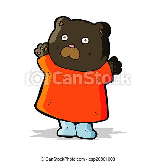 engraçado, pretas, caricatura, urso - csp20801003