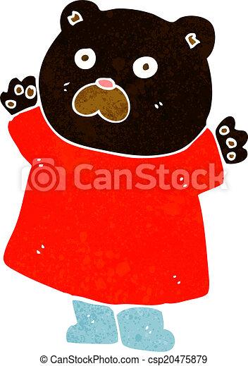 engraçado, pretas, caricatura, urso - csp20475879
