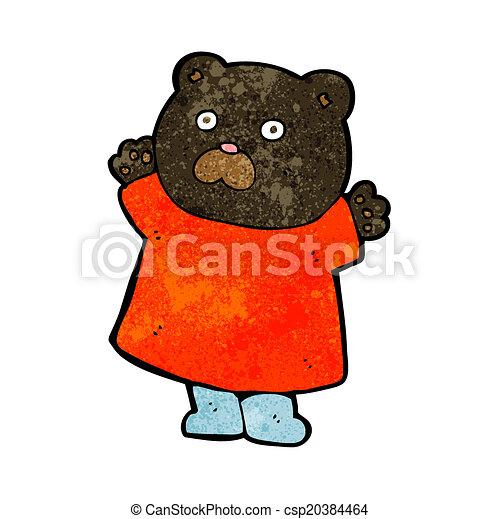 engraçado, pretas, caricatura, urso - csp20384464