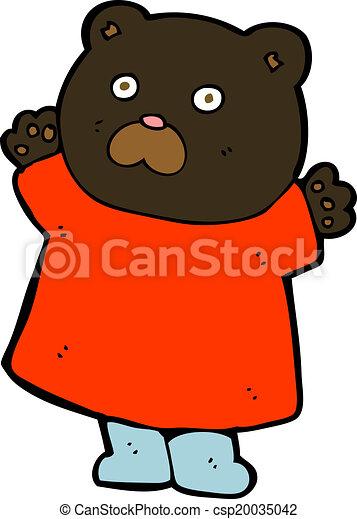 engraçado, pretas, caricatura, urso - csp20035042